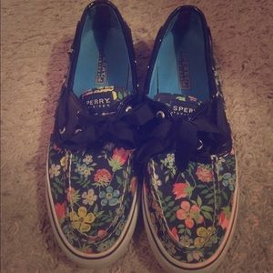 Floral Sperry Top Siders
