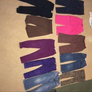 10 pairs of Toddler 3T pants legging jeans Levi