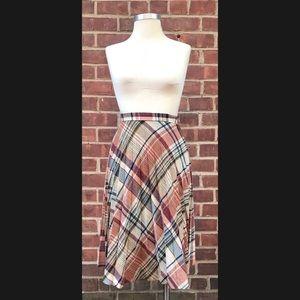 Vintage Wool Pleated Skirt