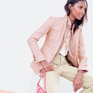 J.Crew Blush Pink Linen Schoolboy Blazer Sz. 0 XS