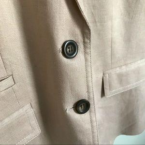 J. Crew Jackets & Coats - J.Crew Blush Pink Linen Schoolboy Blazer Sz. 0 XS