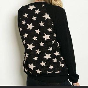 Star bomber cardigan, various sizing