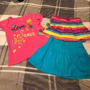 Bundle of 1 Short Sleeve Shirt & 2 Skirts