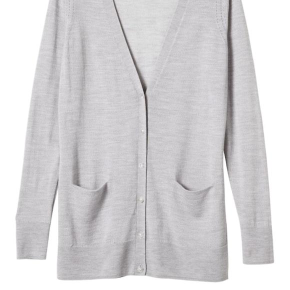 Banana Republic Sweaters - Banana Republic Gray Grey Boyfriend Cardigan S
