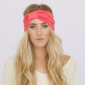 Coral and Grey Three Birds Nest Handmade Headbands