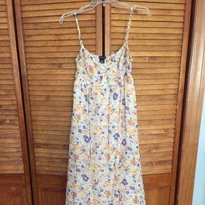 Floral maxi dress!