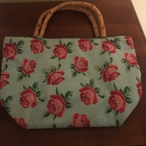 Purse with bamboo straps