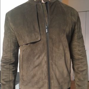 New Fendi Blouson/Calf Leather Jacket size 58