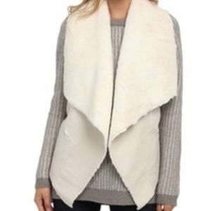 New Blank NYC Faux Shearling Vest
