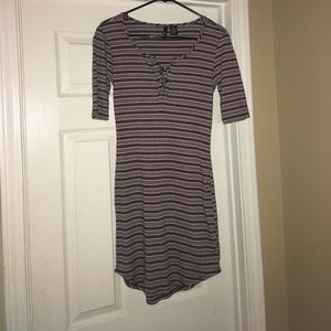 Stripped fitted dress