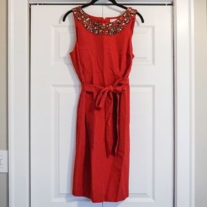 Pea in the pod red pink dress size medium w jewels