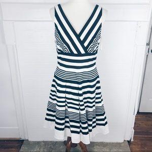 White house black market stripe dress