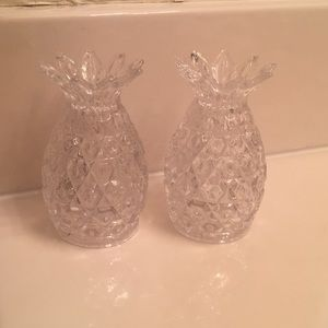 Other - Crystal Pineapple Salt And Pepper Shakers