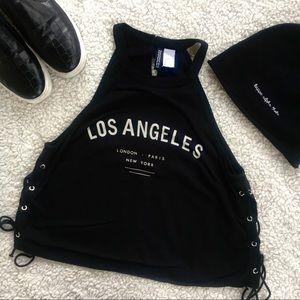 Los Angeles Tie Up Crop Top