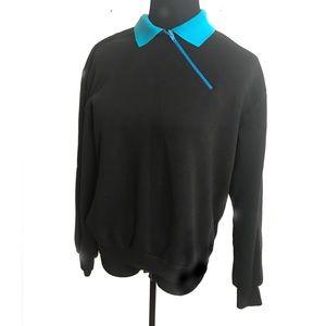 Vintage angled zipper sweatshirt