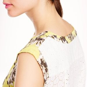 J. Crew Tops - J. Crew Floral Lac Back Top