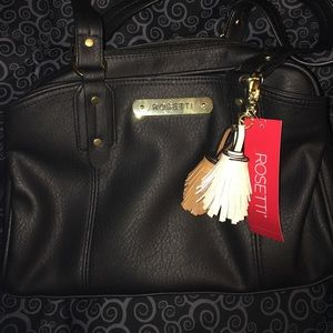 New black Rosetti purse