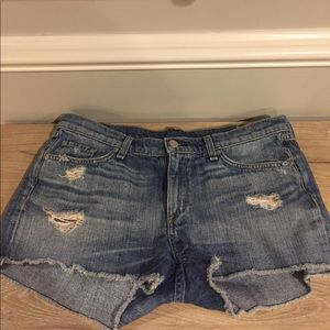 Rag and Bone Cutoff Distressed Jean Shorts sz 30