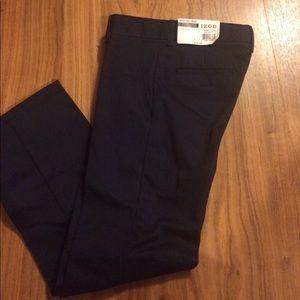NWT, IZOD Kids Navy pants, w/adjustable waist,