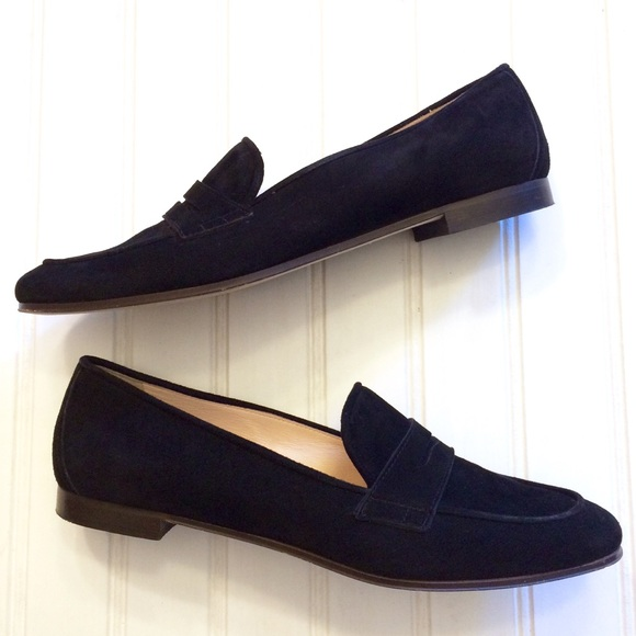 b74a1ade383 J. Crew Shoes - J. Crew black suede Charlie penny loafers