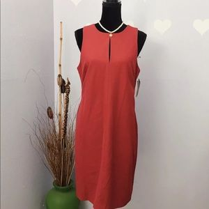 INC Women's Carnival Red Slevelees Dress NWT Sz 12