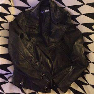 Blk dnm leather jacket Moto 4
