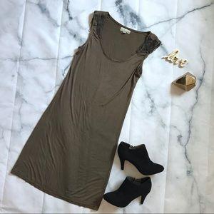Alythea Olive Metal Embellished Dress