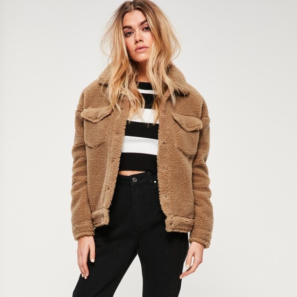 fashion styles multiple colors retro Teddy Shearling Coat Missguided