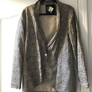 NWT Leopard blazer