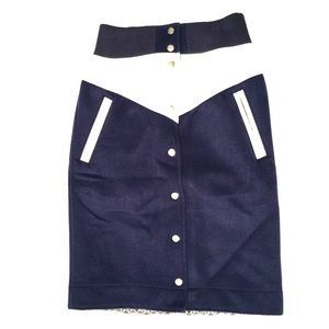 NWT SACAI x NIKE  Letterman Style Pencil Skirt XS