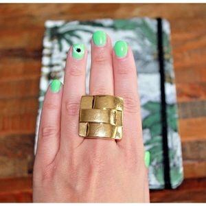 Beautiful Anthropologie Geometric Gold Ring