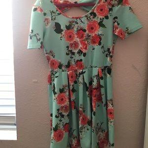 Mint Flower Dress