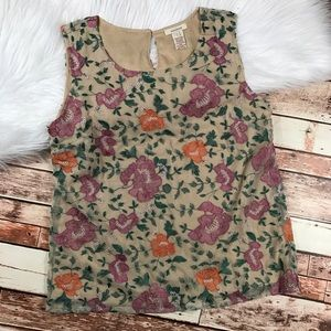 Sundance Embroidered floral sleeveless blouse