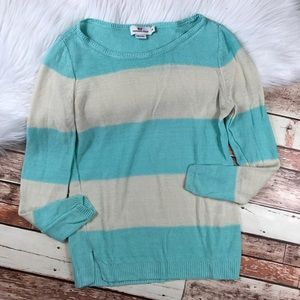 Vineyard vines blue stripe linen blouse
