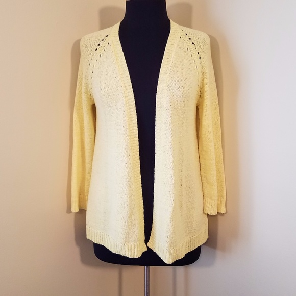 62% off Coldwater Creek Sweaters - Coldwater Creek Lemon Yellow ...