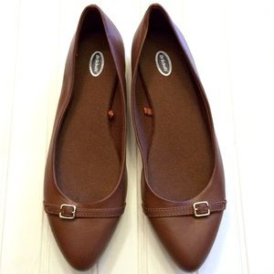 Dr. Scholl's Rosalie brown pointed toe flats