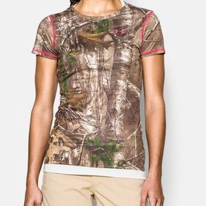 Under Armour Realtree Fitted UA Printed Crew Camo