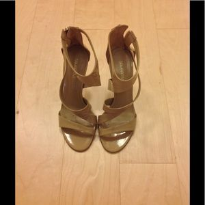 8274cd8756a Tamara Mellon Tiger tan patent leather sandals