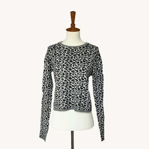 Vintage Animal Print Sweater