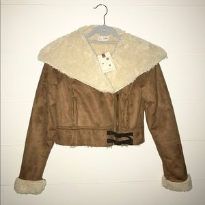 Jackets & Blazers - NWT Faux Fur and Suede Jacket
