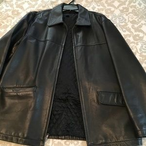 Men's JCREW leather coat, size large. Asking $100