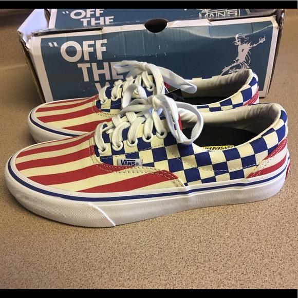 New Vans Era Pro (50th)  83 Stripes Checker Men 7 90de93886