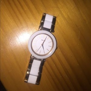 DKNY white and gold, everyday watch