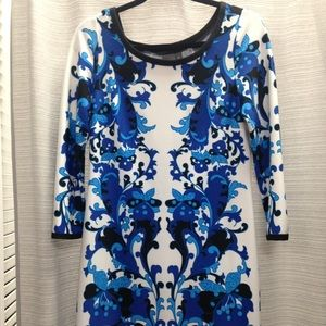 MUSE blue white dress Sz M