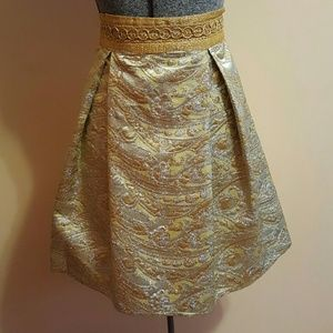 Vintage Gold and Silver Brocade Skirt