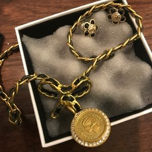 Authentic vintage Chanel necklace and earrings