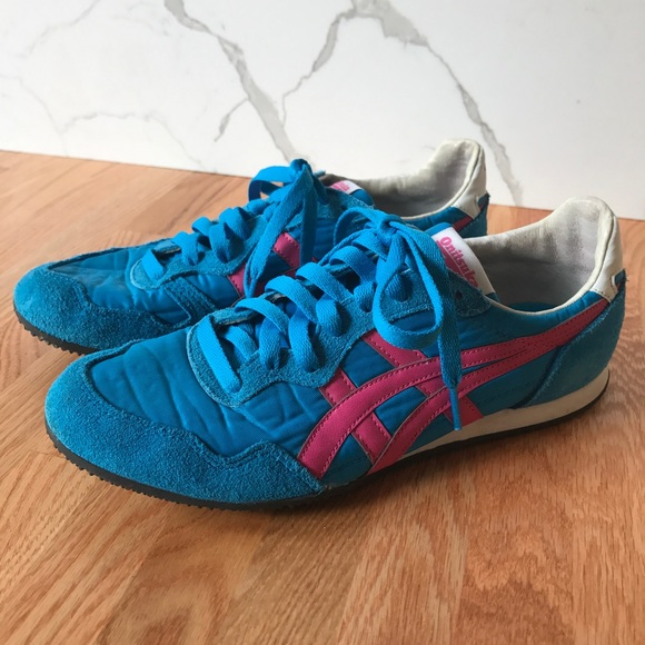 Asic Onitsuka Tiger in hot pink and Neon green