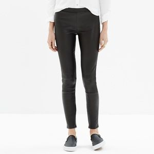 Madewell 100% Leather Leggings Size 6