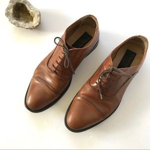 To Boot New York 9.5 Cap Toe Oxford brown leather