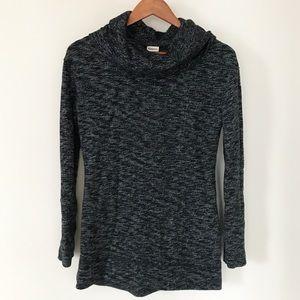 Merona Gray Cowl Neck Knit Tunic Sweater